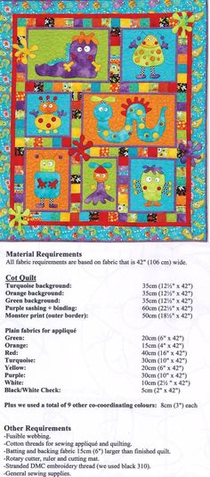 Applique Patterns for Children - Erica's Craft & Sewing Center