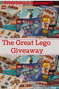 """The Great Lego Movie Giveaway, enter now to win all these """"awesome"""" Lego Movie products Awesome Lego, Cool Lego, Special Girl, Everything Is Awesome, Lego Movie, Giveaways, Barbie, Parenting, Girls"""