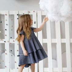 Kids clothing: dresses shirts hoodies pants capes by HipMomMade Baby Girl Dresses, Cute Dresses, Little Fashionista, Linen Dresses, Summer, Kids Outfits, Kids Fashion, Fashion Dresses, Shirt Dress