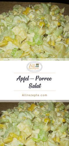Apfel – Porree – Salat – All Rezepte Seafood Dip, Seafood Salad, Seafood Dishes, Seafood Recipes, Pasta Recipes, Salad Recipes, Leek Recipes, Dip Recipes, Bulgur