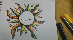Be your own sunshine!  #doodle #100happydays #day8 #sun #sunshine