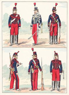 French; Imperial Guard, Equipment Train 1855 & 1860 from Hector Large's Le Costume Militaire Vol III