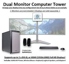 75 Best Dual Monitor Computers images in 2018 | All in one