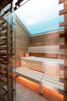 Sauna with a skylight