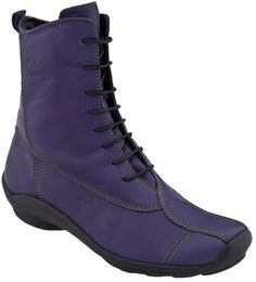 Wolky Golda in Purple Leather from PlanetShoes.com