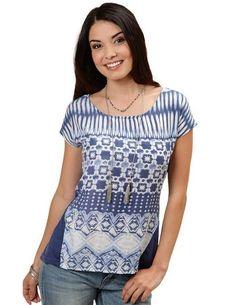 Roper Women's 0231 Aztec Print Dolman Sleeve Top Aztec, Blouse, Girls, Sleeves, Tops, Fashion, Blouse Band, Toddler Girls, Moda