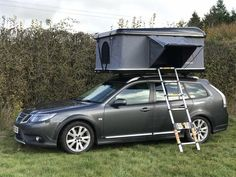 New Saab Motorhome Solution Double Bed Size, Cabin Tent, Roof Rack, Motorhome, Dream Cars, Shells, Vehicles, Transportation, Tent