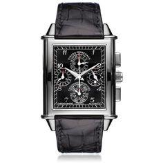 Girard-Perregaux Men's Vintage 1945 XXL Perpetual Calendar Watch ($34,996) ❤ liked on Polyvore