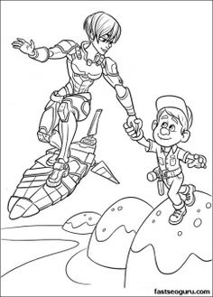 wreck-it-ralph Sergeant Tamora Jean Calhoun and Fix It Felix colorign page - Printable Coloring Pages For Kids