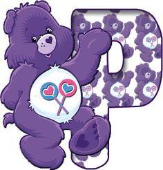 Alfabeto Morado de Care Bears, Ositos Cariñositos.