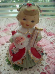 Vintage Lefton Christmas angel bell