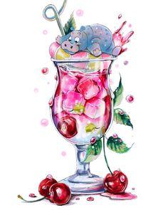 Girly Drawings, Realistic Drawings, Animal Drawings, Marker Kunst, Marker Art, Mini Paintings, Colorful Paintings, Disney Kunst, Disney Art