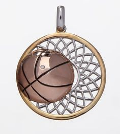 14k Yellow Gold Basketball Pendant Sport Basket Men Jewelry Sterling Silver 925 #BuyJewels #Basketball