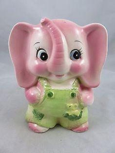 Vintage Rubens Originals - Pink Elephant Planter 3314A - Japan