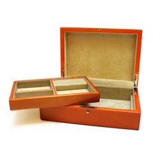 Orange Wood Jewelry Box