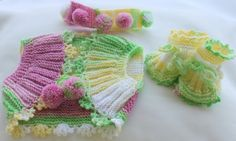 Baby Hand Knitting 3 Pieces Set   Vest  by OznemBabyBoutque, $48.75