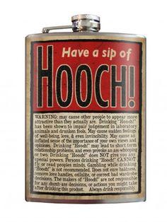"""""""Hooch!"""" Flask by Trixie & Milo"""