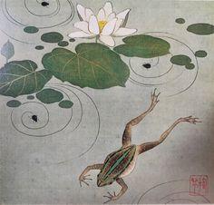 Detail. Frog. Sakai Hoitsu. 静嘉堂文庫美術館. Seikado Bunko Museum. Japan.