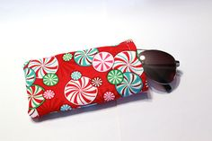 Peppermint candy accessory case Christmas gift stocking stuffer bag holiday purse Christmas candy by CraftyKaities on Etsy