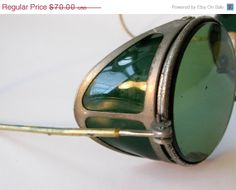 Antique Green Sellstrom Safety Welding Goggles Motorcycle by Sfuso, $63.00