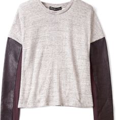 Sweater: Grey & Black in leather