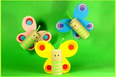 Pikczer For Ticzer Toilet Roll Art, Toilet Paper Roll Crafts, Easy Paper Crafts, Summer Crafts For Kids, Spring Crafts, Projects For Kids, Diy For Kids, Preschool Arts And Crafts, Daycare Crafts