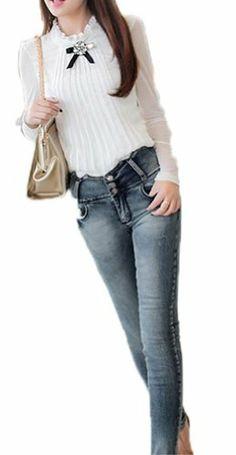 73368709d29134 Vangood Women s Long Sleeve Chiffon Shirt