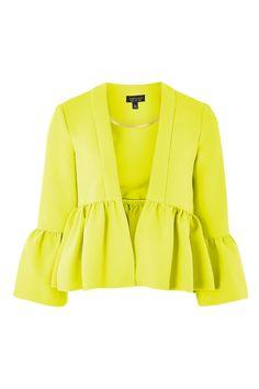 Crop Frill Jacket - Jackets & Coats - Clothing - Topshop USA