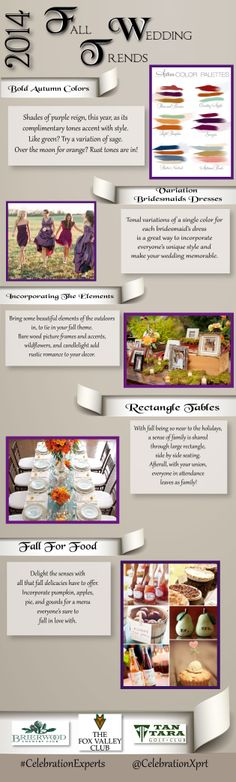 2014 Fall Wedding Trends from Brierwood Country Club and #CelebrationExperts #weddings