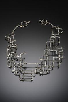 YURI TOZUKA PIPE NECKLACE  Sterling silver. Hand-fabricated