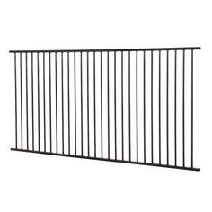Protector Aluminium 2450 x 1200mm Black Flat Top Pool Fence