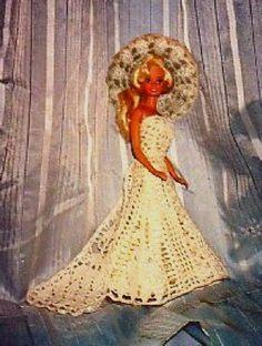 Crochet+Kits | Elegant Crocheted Barbie Wedding Gown - Crochet Kit for sale