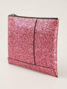 Shop MARNI glitter clutch from Farfetch