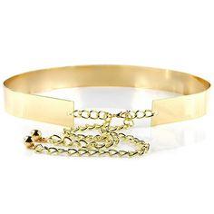 Solid Colour Simply Designed Metal Waist Belt