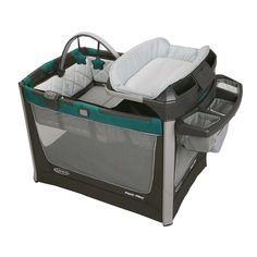 The Graco Pack 'n Play Smart Stations is playard convenience at its best, allowing you to keep baby clean and comfy anywhere in your home. The unique portable changing station and the portable travel bed can be used in and out of the playard.