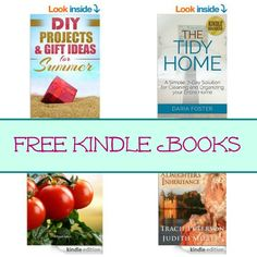 Free Kindle Book List: DIY Projects for Summer, The Tidy Home, Tomato Planting, and More