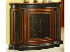 Shop for Hooker Furniture Vicenza Tall Waisted Shaped One-Door Chest, 12479, and other Living Room Chests and Dressers at Swanns Furniture and Design in Tyler, TX. This chest is featured in our Vicenza color palette with a heavy gesso black finish with gold accents. With its tall-waisted silhouette and space-saving footprint, it's ideal for smaller foyers and hallways.