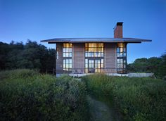 False Bay Residence, San Juan Islands, WA, by Olson Kundig Architects. Photo by Benjamin Benschneider.