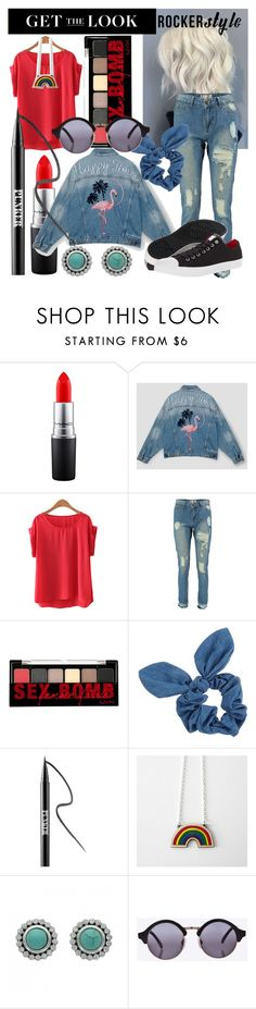 """""""vintage rocker got it comfier"""" by cl-charanek ❤ liked on Polyvore featuring MAC Cosmetics, NYX, Dorothy Perkins, Ardency Inn, Converse, vintage, comfy, rockerchic, rockerstyle and kindavintage"""