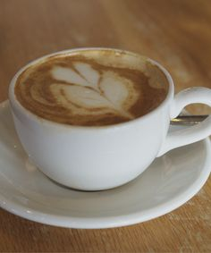 Cappuccino made with soy milk