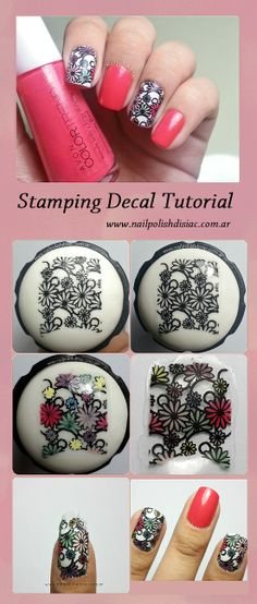 Tutorial Stamped Nail Decals