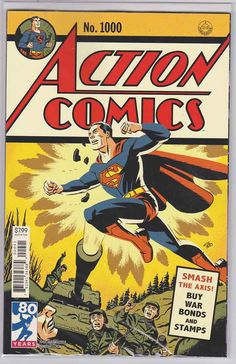 Superman The Man of Steel Arrives 1938 DC Action Comics #1 First Superhero Stamp
