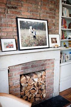 Like the exposed brick below the mantle but not above. Like the mantelpiece colour too