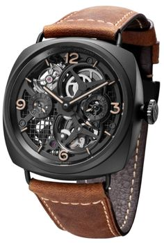 Panerai Radiomir Tourbillon GMT Ceramica Skeleton Watch (PAM348)