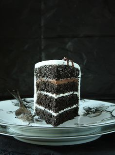 Black Velvet Cake inspired by Michael Aram | iambaker.net