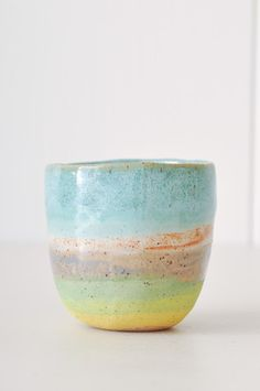 Tea Cup. Handmade in New York by ceramicist Shino Takeda.