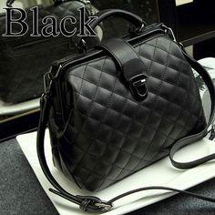Women Messenger Bag Fashion Quilted Bucket Single Shoulder Bag Female Leather Handbag Famous Brand Small Crossbody Bag For Women