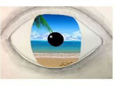 Image gallery magritte eye for Magritte le faux miroir