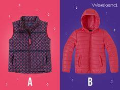 ¡Crea looks divertidos y abrigadores para tu pequeña con chalecos y chamarras #Weekend! ¿Cuál prefieres para ella?