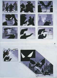 I watched this show constantly as a kid. A superhero storyboard would be epic to make for a project design. This storyboard actually has a contrast to it with black and white.